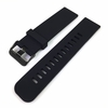 Black Silicone Replacement 20mm Watch Band Strap Wide PVD Metal Steel Buckle #4028