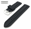 Black Sports Style Silicone Replacement Watch Band Strap #4421