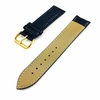 Pebble Time Classic Round Blue Croco Leather Replacement Watch Band Strap Gold Steel Buckle #1083