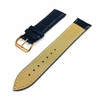 Pebble Time Classic Round Blue Croco Leather Replacement Watch Band Strap Rose Gold Steel Buckle #1073