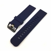 Nautica Compatible Blue Silicone Rubber Replacement Watch Band Strap Wide PVD Metal Steel Buckle #4026