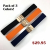 Black Silicone 18mm Watch Band Strap Rose Gold Double Locking Clasp #4011RG