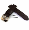 Brown Genuine Leather Watch Band Strap Rose Gold Steel Buckle #1009
