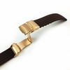 Brown Silicone 20mm Watch Band Strap Rose Gold Double Locking Clasp #4017RG