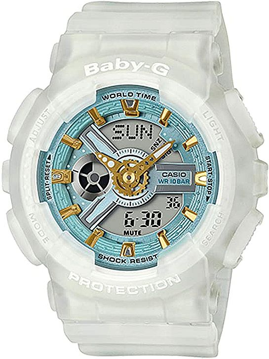 Casio Baby-G BA-110SC Clear Color Digital Analog Watch BA110SC-7A
