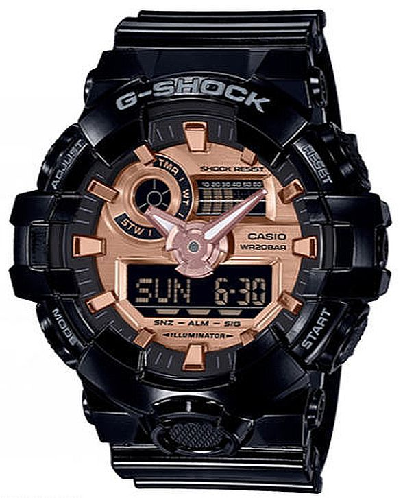 Casio G-Shock Black Digital Analog Watch GA700MMC-1A