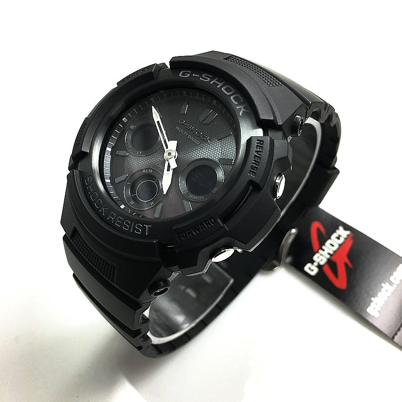 Casio G-Shock Blackout Solar Atomic Watch AWGM100B-1A