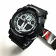 Casio G-Shock Digital Analog Black Sports Watch GA100BW-1A GA-100BW-1ACR
