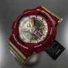 Casio G-Shock XL Crazy Colors Red And Gold Watch GA110CS-4A