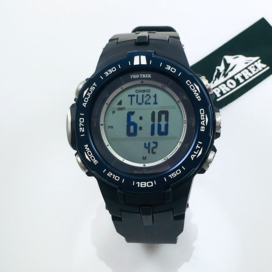 Casio Pro Trek Pathfinder Compass Altimeter Thermometer Watch PRW3100YB-1