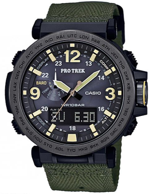 Casio Pro Trek Solar Powered Compass Thermometer Depth Meter Watch PRG600YB-3