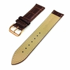 Brown Croco Leather Replacement Watch Band Strap Rose Gold Steel Buckle #1072