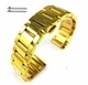 Coach Compatible Gold Tone Steel Metal Bracelet Replacement Watch Band Strap Push Butterfly Clasp #5012