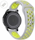 Coach Compatible Grey & Green Sports Silicone Replacement Watch Band Strap Quick Release Pins #4077