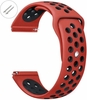 Coach Compatible Red & Black Sport Silicone Replacement Watch Band Strap Quick Release Pins #4075