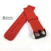 Coach Compatible Red Silicone Rubber Replacement Watch Band Strap Wide PVD Metal Steel Buckle #4027