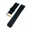 Pebble Time Classic Round Black Rubber Silicone Diver's Style Replacement Watch Band Strap Rose Gold Buckle #4031RG