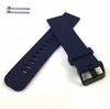 Emporio Armani Compatible Blue Silicone Rubber Replacement Watch Band Strap Wide PVD Metal Steel Buckle #4026