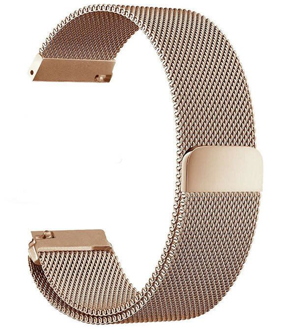 Emporio Armani Compatible Rose Gold Magnetic Clasp Steel Metal Mesh Milanese Bracelet Watch Band Strap #5044