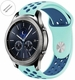 Emporio Armani Compatible Turquoise & Blue Silicone Replacement Watch Band Quick Release Pins #4082