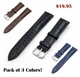 Dark Blue Croco Leather Replacement 18mm Watch Band Strap Steel Buckle #1043