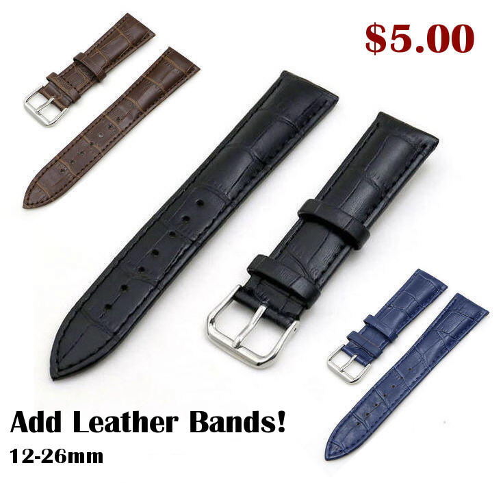 Lacoste Compatible White Elegant Croco Genuine Leather Replacement Watch Band Strap Steel Buckle #1045