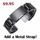 Coach Compatible Black Nylon Watch Band Strap Belt Army Military Ballistic Black Buckle #6032
