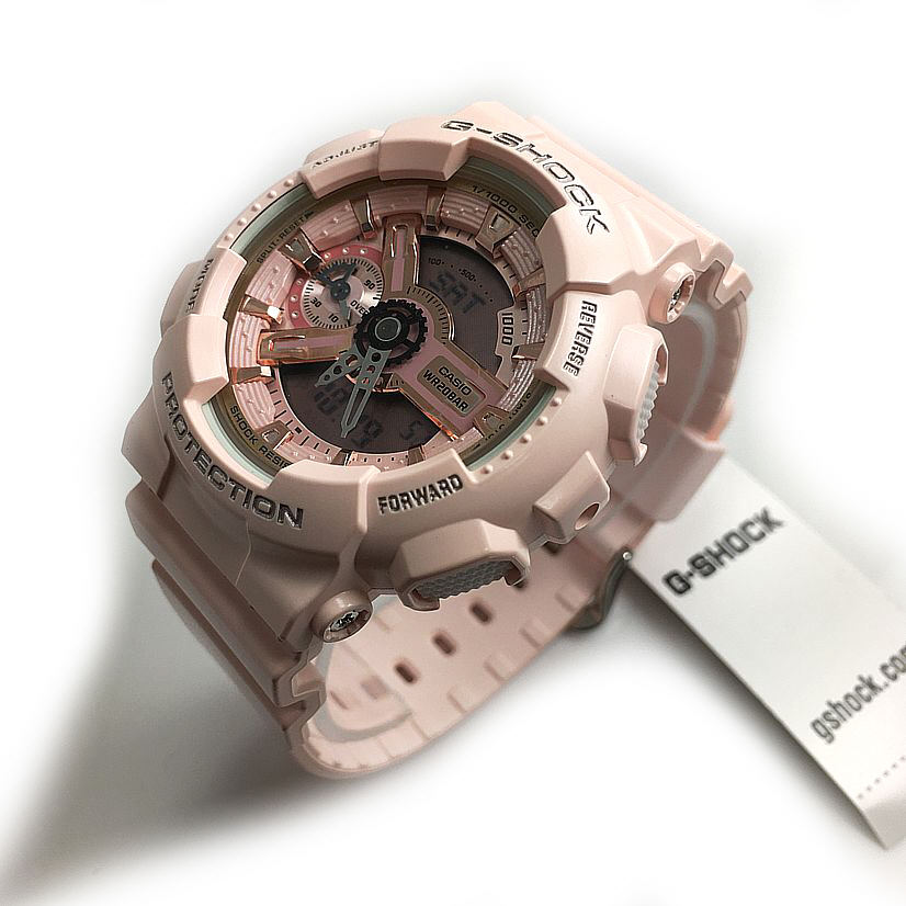 Women's Casio G-Shock Pink Analog Digital Watch GMAS110MP-4A1