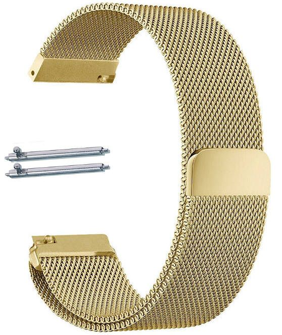 Gold Tone Magnetic Clasp Steel Metal Mesh Milanese Bracelet 18mm Watch Band #5043