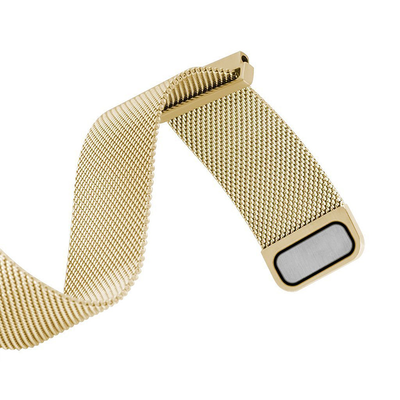 Gold Tone Magnetic Clasp Steel Metal Mesh Milanese Bracelet 20mm Watch Band #5043