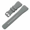 Pebble Time Classic Round Gray Rubber Silicone Replacement Watch Band Strap Quick Release Pins #4049