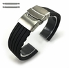Gray Silicone Replacement Watch Band Strap Double Locking Clasp #4433