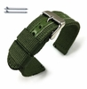 Green Canvas Nylon Fabric Watch Band Strap Army Military Style Steel Buckle #3052