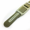 Green Leather Nylon Cuff Watch Band Strap Army Military Style Steel Buckle #6053