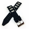 Black Rubber Silicone Bullets Style Replacement Watch Band Strap SS Buckle #4059