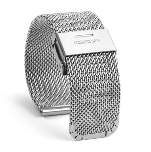 Huawei 2 Silver Steel Metal Adjustable Mesh Bracelet Watch Band Strap Double Lock Clasp #5025