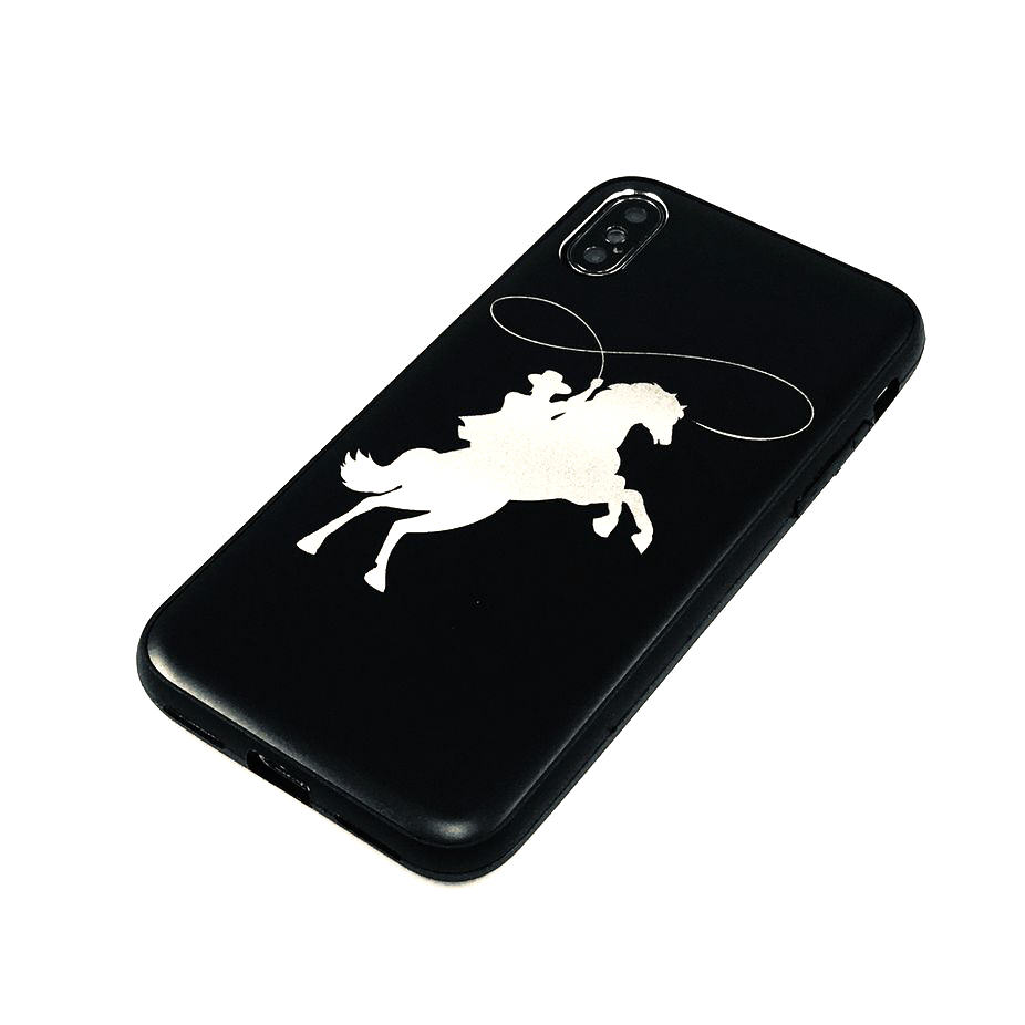 Iphone & Samsung Aluminum Metal Cell Phone Case Cover Cowboy on The Horse #0212