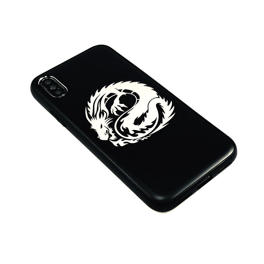 iPhone & Samsung Aluminum Metal Cell Phone Case Cover Skin Dragon #0218