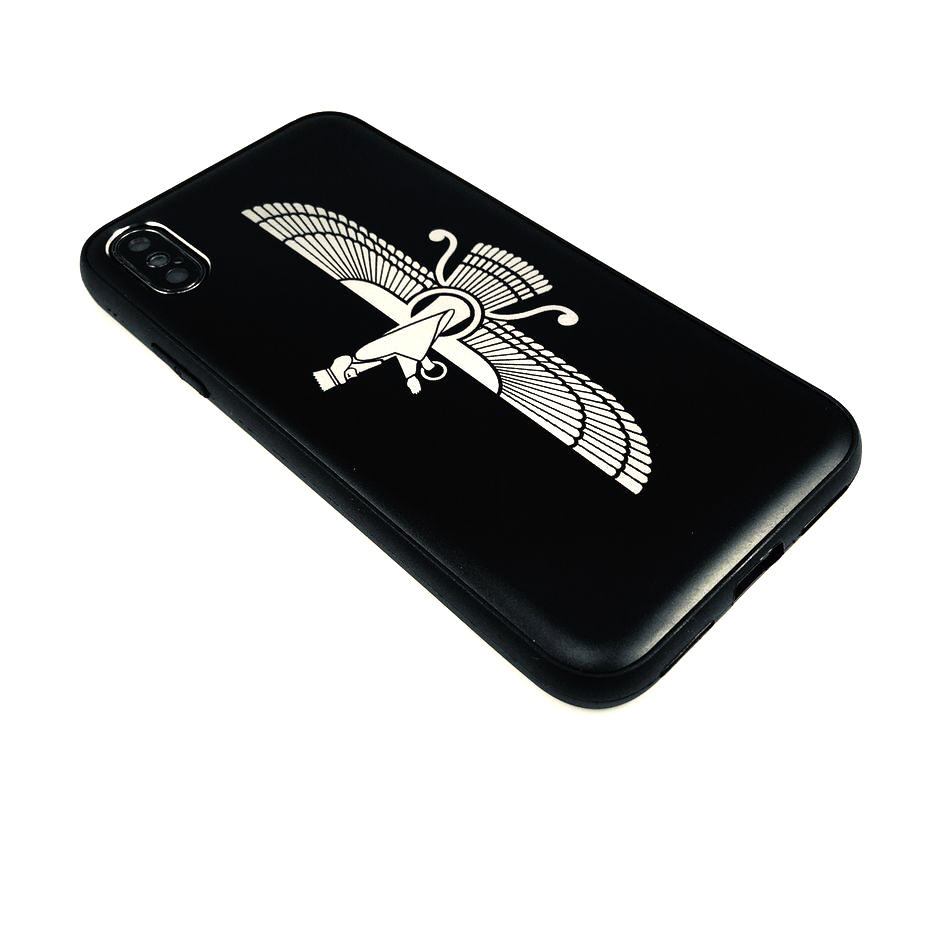 iPhone & Samsung Metal Cell Phone Case Cover Persian Farvahar Symbol #0226