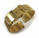 Gold stainless Steel Thick Mesh Replacement Watch Band Strap #5103