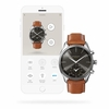Men's Kronaby Sweden Sekel 43mm Luxury Hybrid Brown leather Smart Watch S0719-1