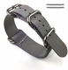Lacoste Compatible 5 Ring Ballistic Army Military Grey Nylon Fabric Replacement Watch Band Strap #3011