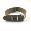 Khaki One Piece Slip Through Nylon 20mm Watch Band Strap Silver Buckle #6001