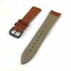 Light Brown Croco Leather Replacement Watch Band Strap Black PVD Steel Buckle #1054