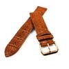 Light Brown Croco Leather Replacement 20mm Watch Band Strap Rose Gold Buckle #1074