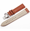 Lacoste Compatible Light Brown Croco Leather Replacement Watch Band Strap Steel Butterfly Buckle #10314
