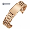Longines Compatible Rose Gold Steel Metal Bracelet Replacement Watch Band Strap Push Button Clasp #5018