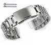 Longines Compatible Stainless Steel Metal Bracelet Replacement Watch Band Strap Push Button Clasp #5015