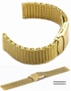 Longines Compatible Stainless Steel Metal Shark Mesh Bracelet Watch Band Strap Double Locking Gold #5031