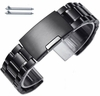 Longines Compatible Steel Metal Bracelet Replacement Watch Band Strap PVD Black Push Button Clasp #5016